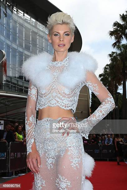 Kate Peck arrives at the 28th Annual ARIA Awards 2014 at the Star on November 26 2014 in Sydney Australia
