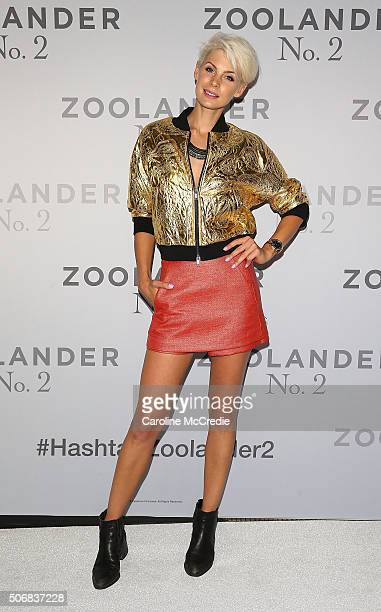 Kate Peck attends the Sydney Fan Screening Event of the Paramount Pictures film 'Zoolander No 2' at the State Theatre on January 26 2016 in Sydney...