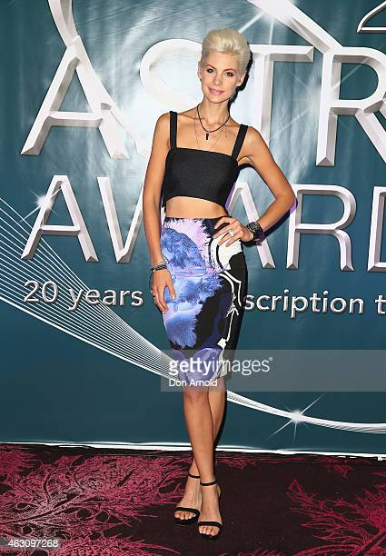 Kate Peck poses at the 2015 ASTRA Awards Nominations Photo Call at The Star on February 10 2015 in Sydney Australia