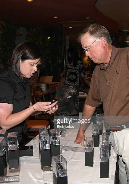 Kate Phillips and Dan Quayle attend the Backstage Creations 2008 American Century Championship Golf Tournament on July 9 2008 in Lake Tahoe California