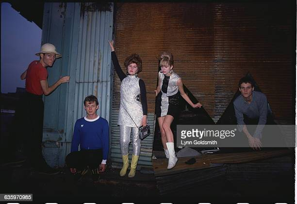 Kate Pierson, Fred Schneider, Keith Strickland, Cindy Wilson and Ricky Wilson of The B-52s.