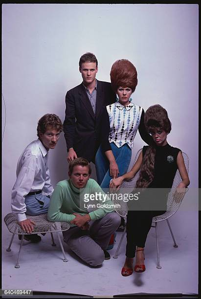 Kate Pierson Fred Schneider Keith Strickland Cindy Wilson and Ricky Wilson of The B52s