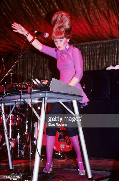 Kate Pierson of the B-52's performing at the Roseland Ballroom in New York City on April 19, 1982.