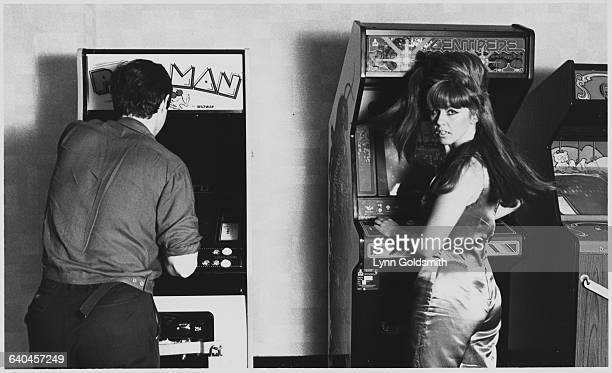 Kate Pierson of The B52's Playing Video Games