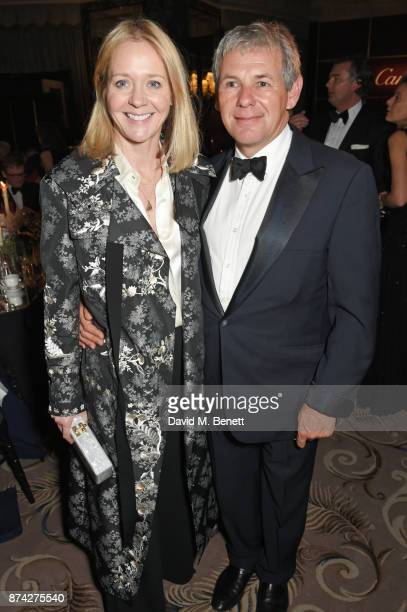 Kate Reardon and Charles GordonWeston attend The Cartier Racing Awards 2017 at The Dorchester on November 14 2017 in London England