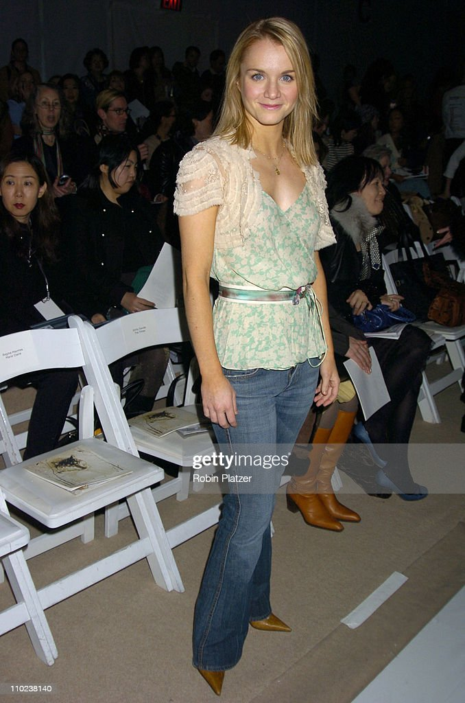 Olympus Fashion Week Fall 2005 - Rebecca Taylor - Backstage and Front Row : News Photo