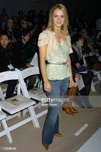 Kate Reinders during Olympus Fashion Week Fall 2005 Rebecca Taylor Backstage and Front Row at The Tents at Bryant Park in New York New York United...