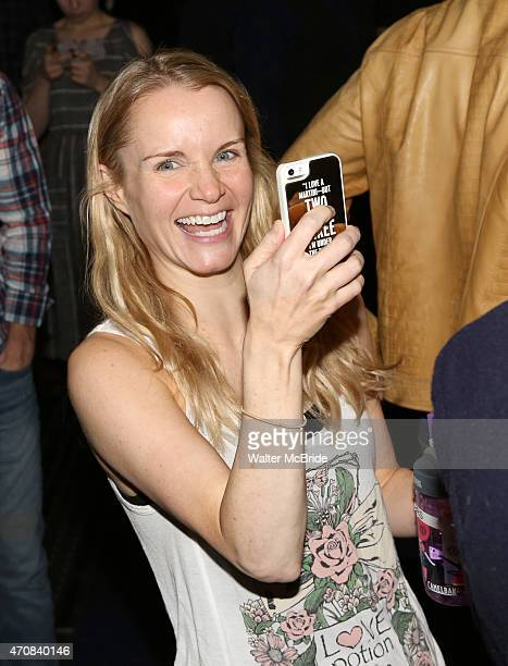 Kate Reinders during the 'Something Rotten' Actors' Equity Gypsy Robe Ceremony honoring Matt Wall at the St James Theatre on April 22 2015 in New...