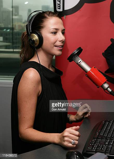 Kate Richie joins comedians Merrick and Rosso on Nova 969's breakfast radio program in the Nova studios on January 14 2008 in Sydney Australia
