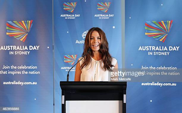 Kate Ritchie addresses media at the launch of the 2014 Australia Day program on January 16 2014 in Sydney Australia