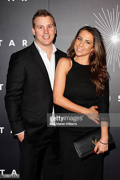 Kate Ritchie and Stuart Webb arrive at the opening of The Star formerly Star City in Pyrmont on September 15 2011 in Sydney Australia The...