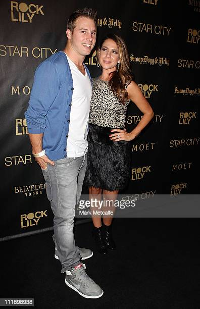 Kate Ritchie and Stuart Webb arrive for the exclusive Star City show by Snoop Dogg and Nelly at Star City on April 8, 2011 in Sydney, Australia.
