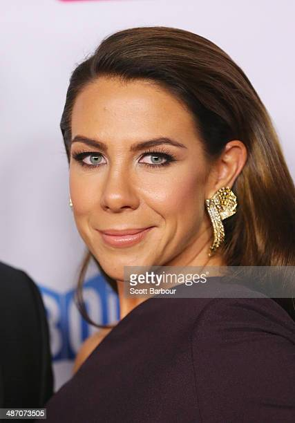 Kate Ritchie arrives at the 2014 Logie Awards at Crown Palladium on April 27 2014 in Melbourne Australia