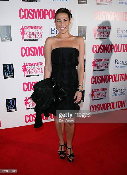 Kate Ritchie arrives for the Cosmopolitan and Biore Fun, Fearless, Female Awards at Sydney Cafe on September 16, 2008 in Sydney, Australia.