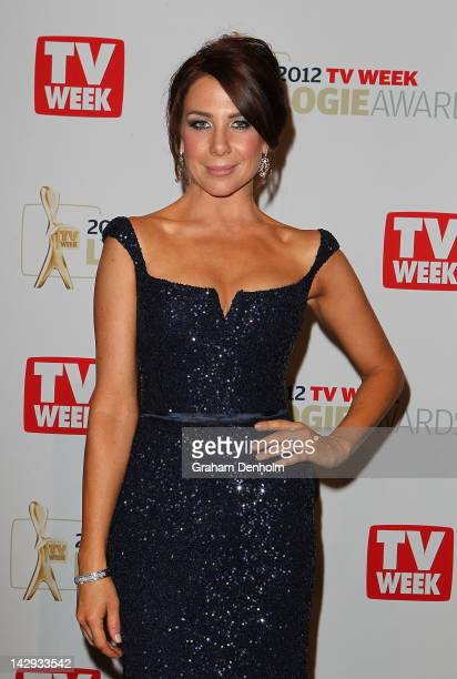 Kate Ritchie poses in the Awards Room at the 2012 Logie Awards at the Crown Palladium on April 15 2012 in Melbourne Australia