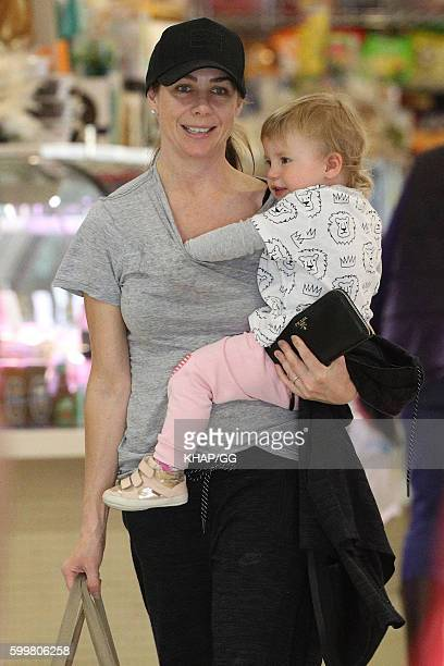 Kate Ritchie shopping with daughter Mae Webb on September 7 2016 in Sydney Australia