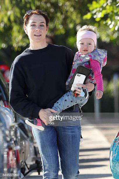 Kate Rithie is seen taking her daughter Mae to swimming lessons on June 29, 2016 in Sydney, Australia.
