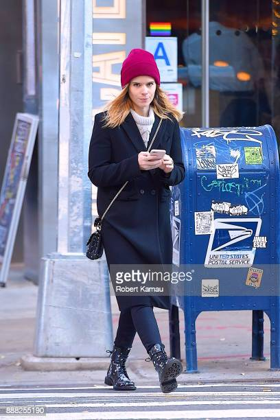 Kate Rooney Mara seen out walking in SoHo on December 7 2017 in New York City