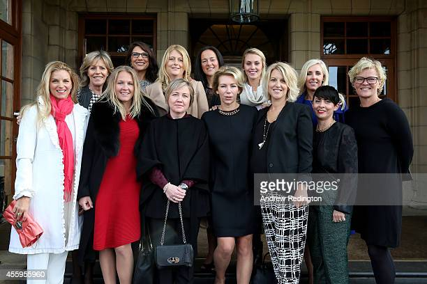 Kate Rose, wife of Justin Rose, Vicki Smyth, wife of Europe team vice captain Des Smyth, Susanne Jiminez, wife of Europe team vice captain Miguel...
