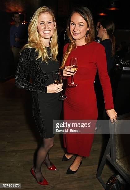 Kate Rotheram and Jo Poulter attend the launch of M Victoria Street in aid of Terrence Higgins Trust on January 27 2016 in London England