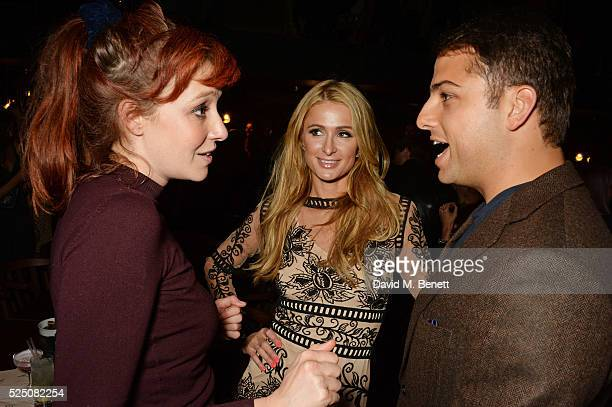 Kate Rothschild Paris Hilton and Jamie Reuben attend the launch of Restaurant Ours in Kensington on April 27 2016 in London England