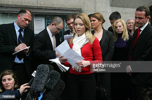 Kate Sheedy speaks to the press outside the Old Bailey on February 25 2008 in London England Former bouncer Levi Bellfield of west London was found...