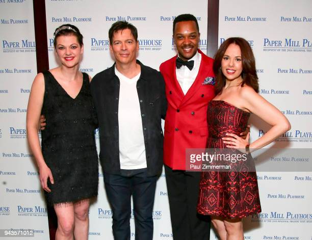 Kate Shindle Harry Connick Jr J Harrison Ghee and Janet Dacal attend 'The Sting' Opening Night at South Mountain Tavern on April 8 2018 in South...