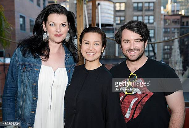 Kate Shindle Lea Salonga and Alex Brightman attend the Actors' Equity Season Opener Mixer at The Sanctuary Hotel on September 20 2015 in New York City