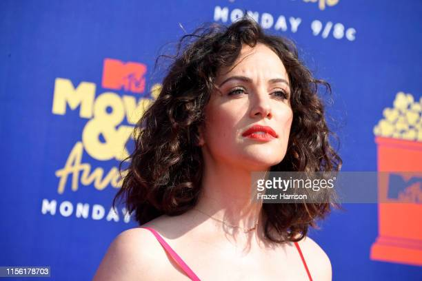 Kate Siegel attends the 2019 MTV Movie and TV Awards at Barker Hangar on June 15 2019 in Santa Monica California
