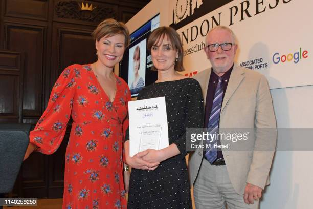 Kate Silverton Amelia Gentleman accepting the Print Journalist of the Year award and Bill Hagerty attend the London Press Club Awards 2019 at...