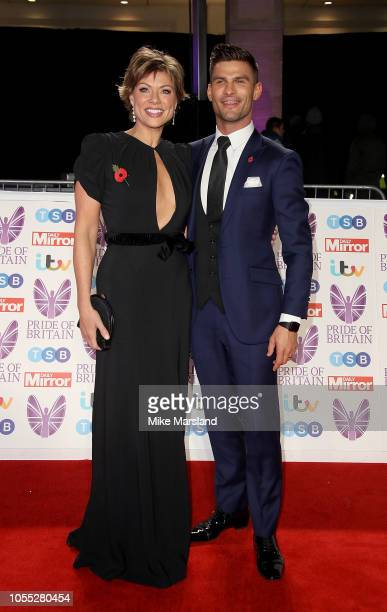 Kate Silverton and Aljaz Skorjanec attend the Pride of Britain Awards 2018 at The Grosvenor House Hotel on October 29 2018 in London England