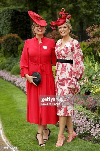 Kate Silverton and Charlotte Hawkins attend day 1 of Royal Ascot at Ascot Racecourse on June 18 2019 in Ascot England