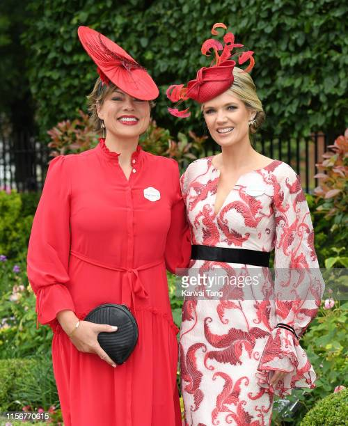 Kate Silverton and Charlotte Hawkins attend day one of Royal Ascot at Ascot Racecourse on June 18 2019 in Ascot England