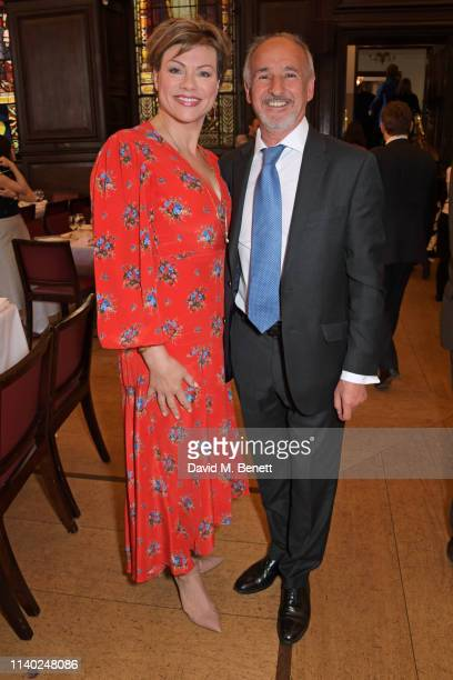 Kate Silverton and Doug Wills attend the London Press Club Awards 2019 at Stationers' Hall on April 30 2019 in London England