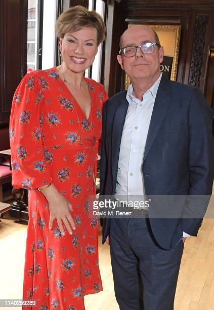 Kate Silverton and Nick Robinson attend the London Press Club Awards 2019 at Stationers' Hall on April 30 2019 in London England