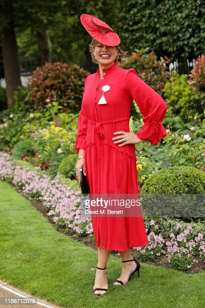 Kate Silverton attends day 1 of Royal Ascot at Ascot Racecourse on June 18 2019 in Ascot England