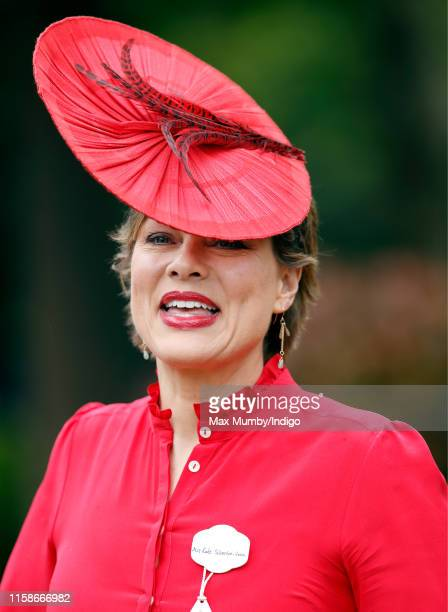 Kate Silverton attends day one of Royal Ascot at Ascot Racecourse on June 18 2019 in Ascot England