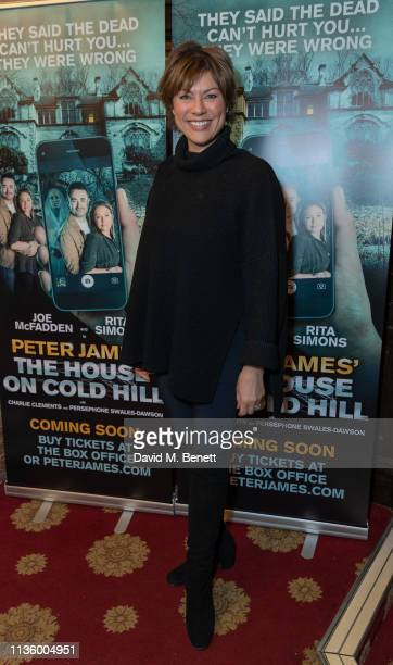 Kate Silverton attends the press night after party for The House On Cold Hill at the Richmond Theatre on April 9 2019 in Richmond England