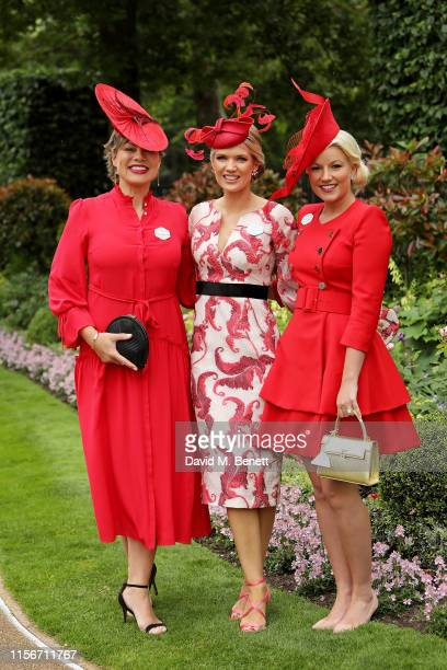 Kate Silverton Charlotte Hawkins and Natalie Rushdie attend day 1 of Royal Ascot at Ascot Racecourse on June 18 2019 in Ascot England