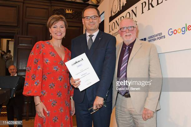 Kate Silverton Christo Grozev accepting the Digital Journalist of the Year award on behalf of Bellingcat and Bill Hagerty attend the London Press...