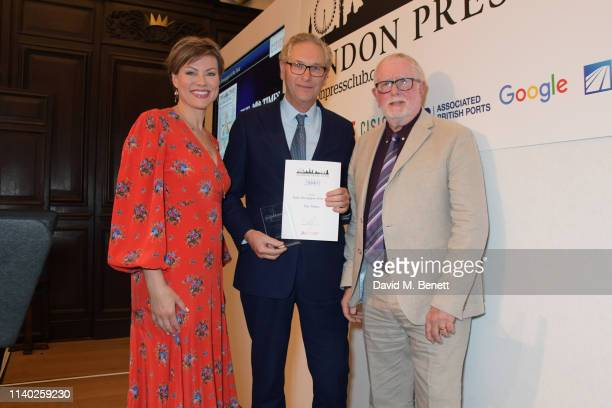Kate Silverton John Witherow accepting the Daily Newspaper of the Year award on behalf of The Times and Bill Hagerty attend the London Press Club...