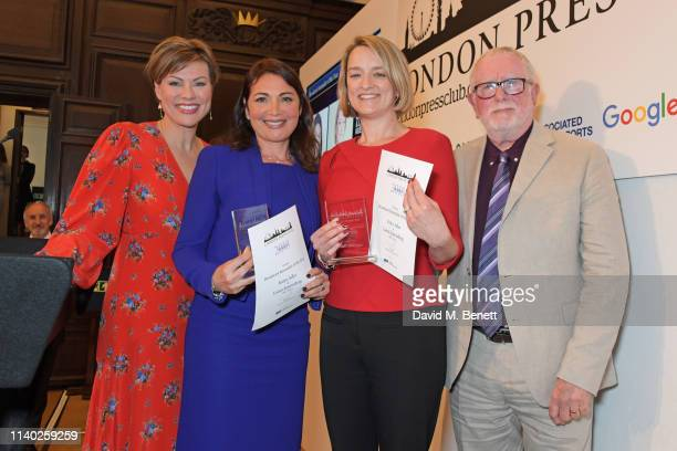 Kate Silverton, Katya Adler and Laura Kuenssberg, winners of the Broadcast Journalist of the Year award, and Bill Hagerty attend the London Press...