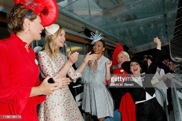 Kate Silverton Laura Whitmore Emma Weymouth Natalie Rushdie and Imelda May attend day 1 of Royal Ascot at Ascot Racecourse on June 18 2019 in Ascot...