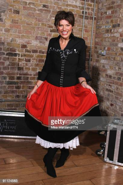 Kate Silverton of the BBC news team poses ahead of the performance at the Newsroom�s Got Talent event held in aid of Leonard Cheshire Disability and...