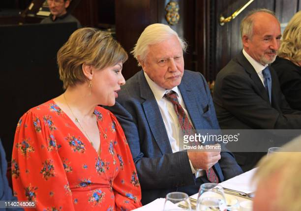 Kate Silverton Sir David Attenborough and Doug Wills attend the London Press Club Awards 2019 at Stationers' Hall on April 30 2019 in London England