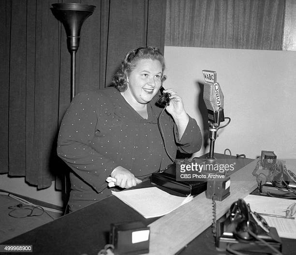 Kate Smith spends 21 hours on a CBS Radio war bond drive helped raising $1500 worth of pledges New York NY Image dated October 6 1942