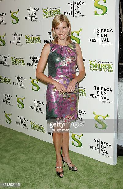 Kate Snow attends the Shrek Forever After premiere during the 9th Annual Tribeca Film Festival at the Ziegfeld Theatre on April 21 2010 in New York...