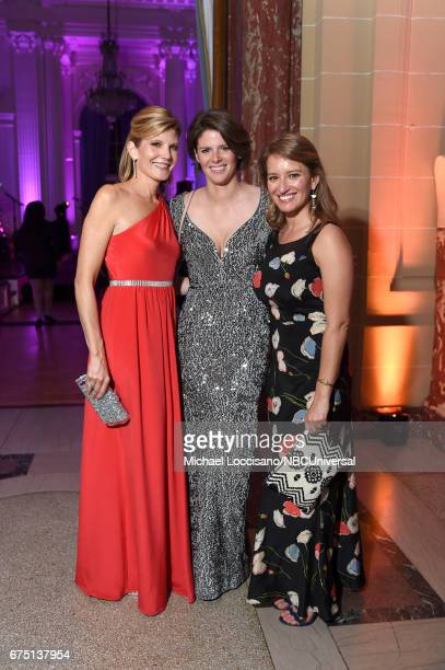 Kate Snow Kasie Hunt and Katy Tur attend the White House Correspondents Dinner MSNBC After Party at Organization of American States on April 29 2017...