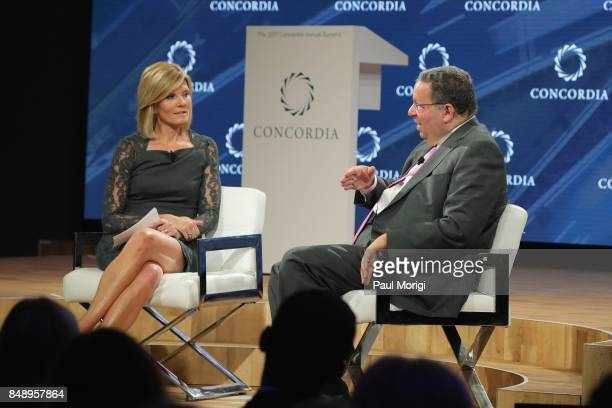 Kate Snow National Correspondent NBC News and David L Cohen Senior Executive Vice President and Chief Diversity Officer Comcast Corporation speak at...