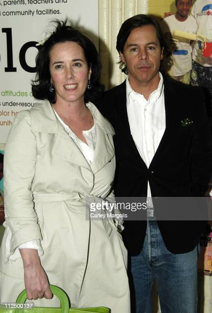 Kate Spade and Andy Spade during 5th Annual Stir Splatter and Roll to Benefit Publicolor at Martin Luther King Jr High School in New York City New...